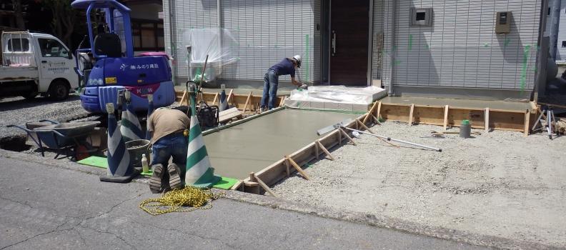 茅野市 I様邸 庭園工事はじまりました